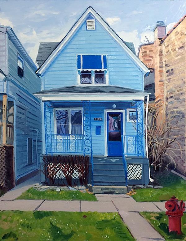Blue House with S Trellis