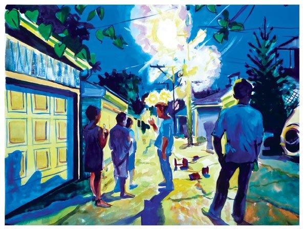 Alley Fireworks