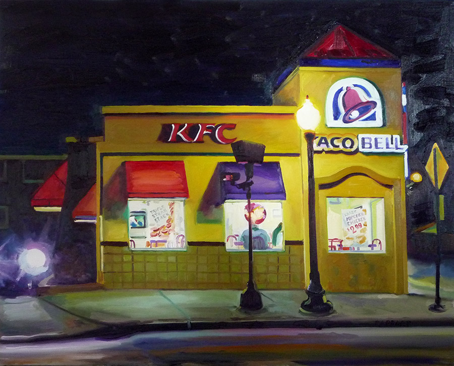 "Combo Fast Food Joint, 30x40"", oil/canvas, © 2013 Emily Rapport"