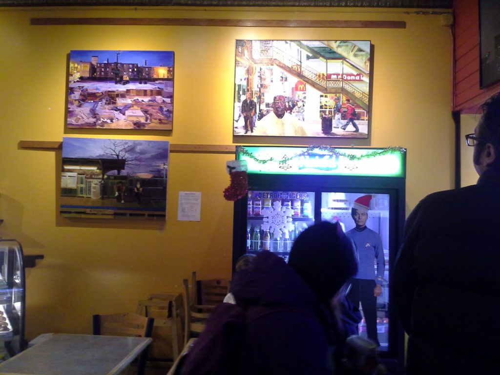 Showing through January 2014 at Beans and Bagels, Montrose store.