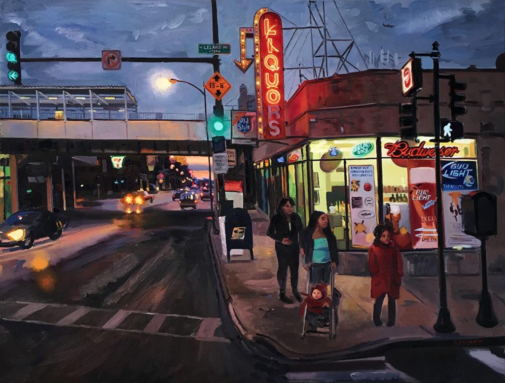 """""""Leland Liquors, """" 30x40"""", oil on canvas"""